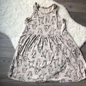 H&M Girls 8-10 Bear Print Tank Dress